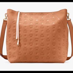 Mcm klara monogrammed  leather hobo large